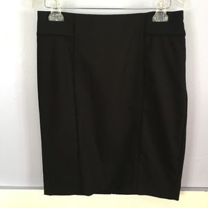 NWOT WHBM Solid Black Straight Pencil Skirt Size 6